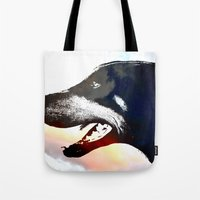 caleb troy Tote Bags featuring Troy by Jake Stanton