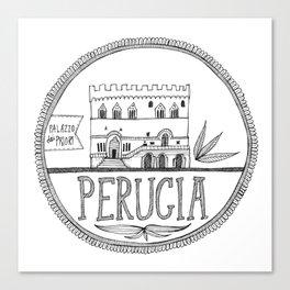 Palazzo dei Priori, Perugia Canvas Print