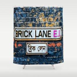 London Brick Lane Sign Shower Curtain