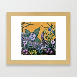 Rabbit Kickin' Back Framed Art Print