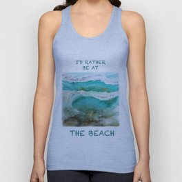 Abstract Waves Unisex Tank Top