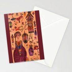 Cuckoo clock collage Stationery Cards
