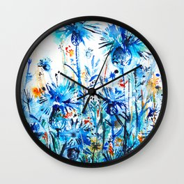 thickets of cornflowers Wall Clock
