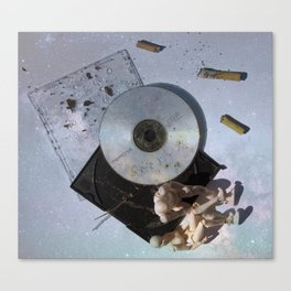 Listening to Old CD Mixes with You Under the Stars Canvas Print