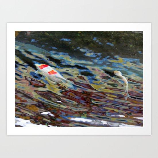 Watercolor Koi Art Print