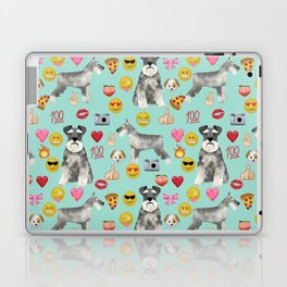 schnauzer emoji dog breed pattern Laptop & iPad Skin