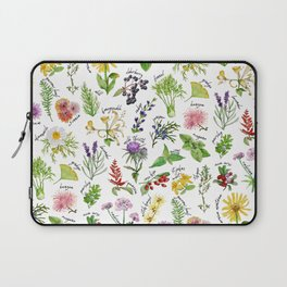 Plants & Herbs Alphabet Laptop Sleeve