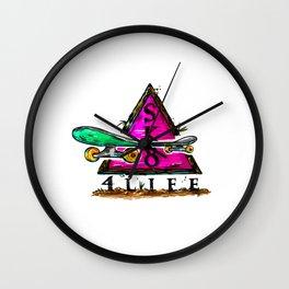 Sk8 4 Life Wall Clock