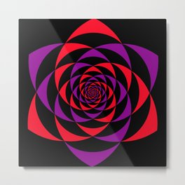 ENERGY FLOWER | FLOW YOUR LIFE Metal Print