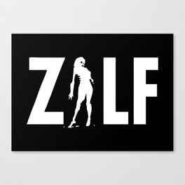 ZILF - A Zombie I'd Like to be Friends with - reverse Canvas Print
