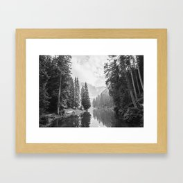 The Perfect View (Black and White) Framed Art Print