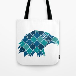 EAGLE SILHOUETTE HEAD WITH PATTERN Tote Bag