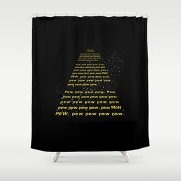 PEW PEW PEW Shower Curtain