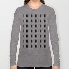 Piano Key Stripes Long Sleeve T-shirt