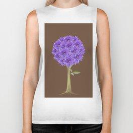 Flowerpower - Purple Flower Ball - Society6# #buyart Biker Tank