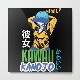 Kawaii Anonymous Girl Metal Print