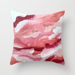 Carnations [2]: abstract | acrylic | watercolor | pink | red | white | wall art | fine art Throw Pillow