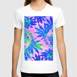 Tropical Adventure - Neon Blue, Pink and Green #tropical #homedecor T-shirt