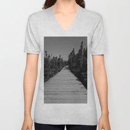 walkway through the trees Unisex V-Neck