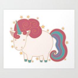 Unicorn! Art Print
