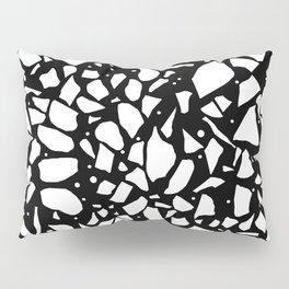 Terrazzo Spot 2 Black Pillow Sham