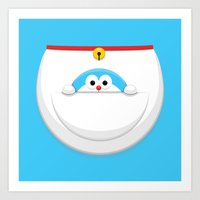 doraemon Art Prints featuring Doraemon Pocket Doraemon by ARVwerks