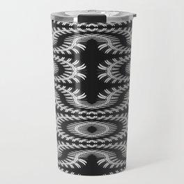 Monochrome centipede arabesque Travel Mug