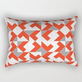 Marble Red Blocks Rectangular Pillow