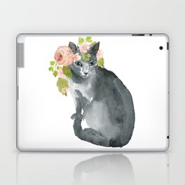 cat with flower crown Laptop & iPad Skin