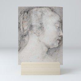 Follower of Peter Paul Rubens HEAD OF A YOUNG WOMAN IN PROFILE Mini Art Print