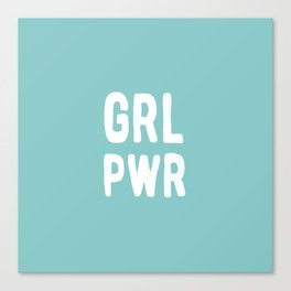 GRL PWR (Blue) Canvas Print