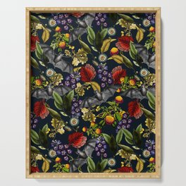 Flying Fox and Floral Pattern Serving Tray