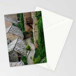 Old town and a cat Stationery Cards