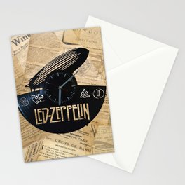 Black Zeppelin Stationery Cards