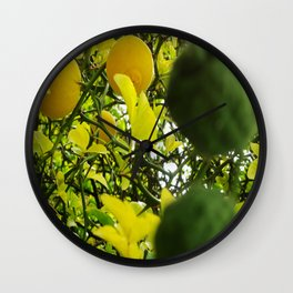 Bicolor lemon tree Wall Clock