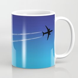 787 in flight with contrail Coffee Mug