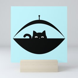 Out of the Blue - Space Cat Mini Art Print