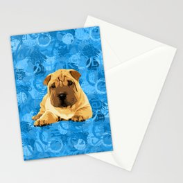 Shar-Pei puppy Stationery Cards