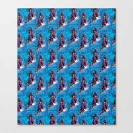 witch surfing pattern Canvas Print