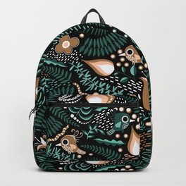 Tropical Birds and Flowers Pattern Backpack