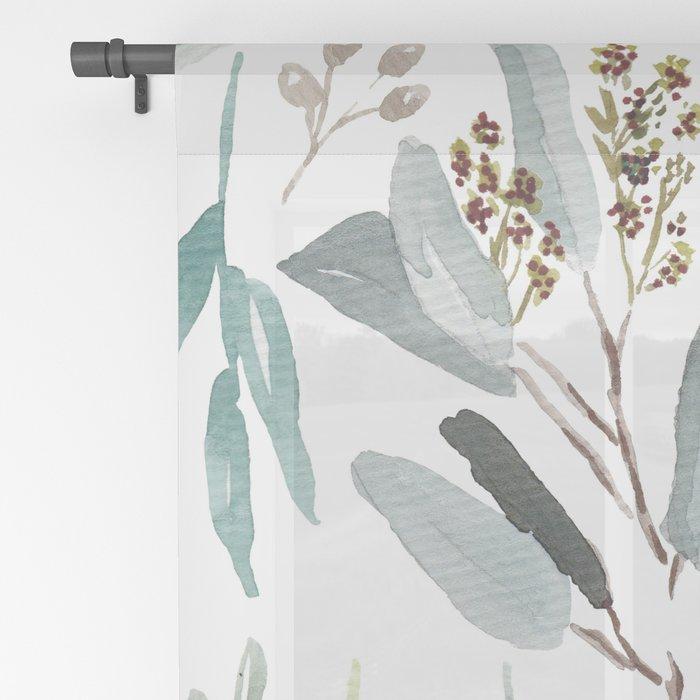 Eucalyptus pattern Sheer Curtain