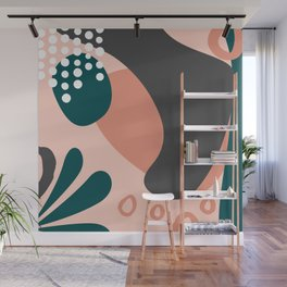 Total Abstraction - Earthy Tones Wall Mural