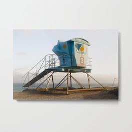 Malibu California Lifeguard Tower Metal Print