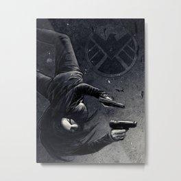 Agent May Metal Print