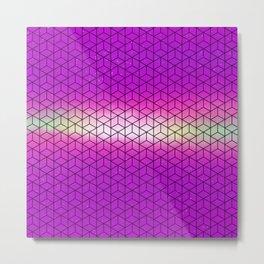 Pink Geometric Sky Metal Print