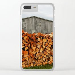 Barn and Firewood Clear iPhone Case