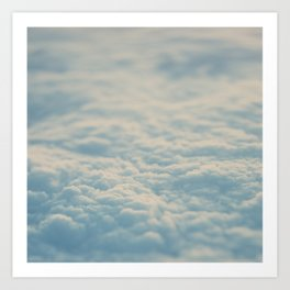 above the clouds ... Art Print