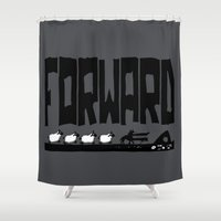 reassurance Shower Curtains featuring Forward by TehStr4ngeOnes