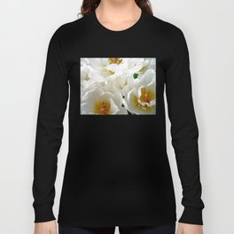 White tulips with afterglow centers Long Sleeve T-shirt