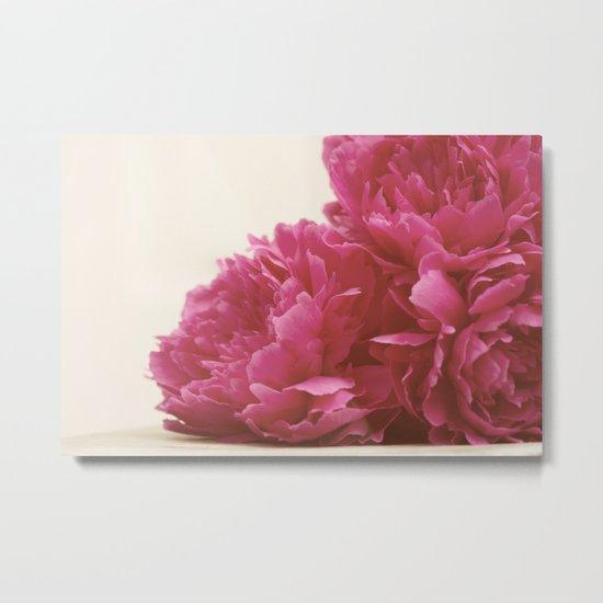 Pretty Pink Peonies Metal Print